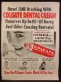 Magazine Ad for Colgate Ribbon Dental Cream, Stops Most Tooth Decay, 1953