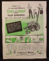 Magazine Ad for Fairbanks Morse Grass Finder Rotary Power Lawn Mower, 1950