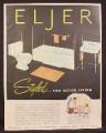 Magazine Ad for Eljer Bathroom Fixtures, Bathtub Toilet Sink, Legation Bath, 1953