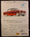 Magazine Ad for Aero Willys Aero Eagle Car, 1953
