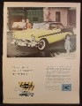 Magazine Ad for Chevrolet 2 Door Bel Air Hardtop Car, Pale Yellow & Black, 1956