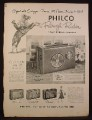 Magazine Ad for Philco Rough Rider 3 Way Portable Radios, Mustang Sporster, 1956
