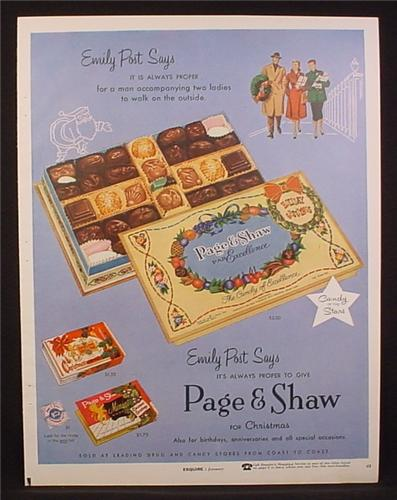 Magazine Ad for Page & Shaw Candy Chocolate Sampler ...