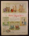 Magazine Ad for Libbey Textured Glasses, 6 Designs, Danube Roses Golden Frost 1960