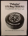 Magazine Ad for Goodyear Polyglas Tire, 1969