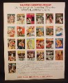 Magazine Ad for Sports Illustrated, 25 Cover Pictures, 1971