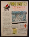 Magazine Ad for The Mounties Giant Wall Map Offer, Exploits of the RCMP, 1968