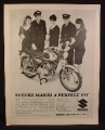 Magazine Ad for Suzuki Posi Force Motorcycle, Pilots & Stewardesses, 1967