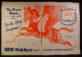 Magazine Ad for Mobilgsas, Flying Horsepower, Winged Horse, 1945