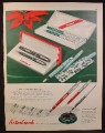 Magazine Ad for Esterbrook Pens & Pencils, Different Nibs, 1955