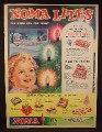 Magazine Ad for Noma Christmas Lights, 8 Sets, Packages, Boxes, 1959