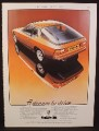 Magazine Ad for Porsche 924 Car, Rear & Side View, Great Britain, 1978