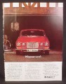 Magazine Ad for Red Jaguar XJ6 Car, Front View, Great Britain, 1976