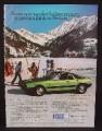 Magazine Ad for Lancia Beta Monte-Carlo Car, Side View, Great Britain, 1977