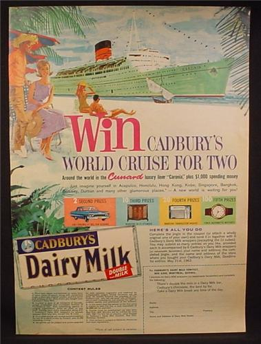 Magazine Ad for Cadbury Dairy Milk Chocolate Bar, World ...