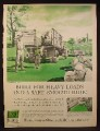 Magazine Ad for GMC Farm Trucks, Loading Sheep Onto A Truck, 1960