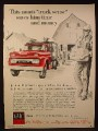 Magazine Ad for GMC Farm Trucks, Front View of Truck, 1960