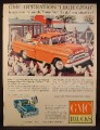 Magazine Ad for GMC Farm Trucks, Operation High Gear, 1960