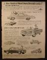 Magazine Ad for 1962 Chevrolet Cars, Nova 400 Convertible, Corvair Monza, 1961