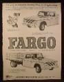 Magazine Ad for Chrysler Fargo Trucks, D-300 with Stakes, Sweptline Pickup, 1961
