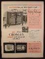Magazine Ad for Crosley Radio Phonograph & Radios, 1948