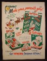 Magazine Ad for Texcel Christmas Giftape, Gift Tape in Christmas Patterns, 1948