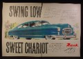 Magazine Ad for Nash Airflyte Car, Swing Low Sweet Chariot, 1948, Double Page Ad