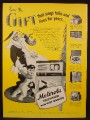 Magazine Ad for Motorola Television & Gift Radios, 6 Models Shown, 1948
