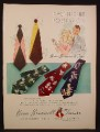 Magazine Ad for Beau Brummel Ties, Men's Fashion, 5 Designs, Wide Ties