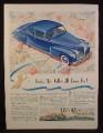 Magazine Ad for Lincoln Zephyr V-12 Car, Blue, The Folks All Love Me, 1941