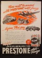 Magazine Ad for Prestone Anti-Freeze, WWII, Military Vehicles  First, 1944