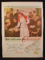 Magazine Ad for Chesterfield Cigarettes, Claudette Colbert, Volunteer Army Canteen, 1942