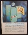 Magazine Ad for GE General Electric Frost Guard Model TC-466V, Blue Color, 1961