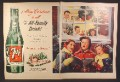 Magazine Ad for 7UP Seven-UP, Giant Bottle, Case of 24, Kid's Singing Christmas Carols, 1951