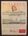 Magazine Ad for Royledge Shelf Lining Paper and Edging, 1956