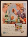 Magazine Ad for Canada Dry Ginger Ale, Lemon Soda, Club Soda, Carton, Golfers, 1956