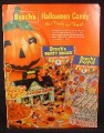 Magazine Ad for Brach's Halloween Candy, Haunted House Box, 1958