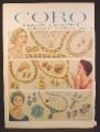 Magazine Ad for Coro Jewelry, Aurora Ruby & Sapphire Lines, 1958