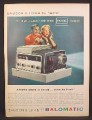 Magazine Ad for Bausch & Lomb Balomatic Slide Projector, Runs By Itself, 1958