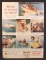Magazine Ad for Johnson Sea-Horse Outboard Motor, Sea Horse, 1958