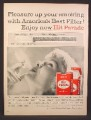 Magazine Ad for Hit Parade Cigarettes, Filter Tip, King Size, 1958