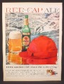 Magazine Ad for Carling Red Cap Ale, Beer, Bottle, Most Unusual Ale, 1959