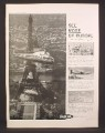 Magazine Ad for Sabena Belgian World Airlines, Helicopter Flying By Eiffel Tower, 1959