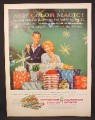 Magazine Ad for Reynolds Aluminum Foil Gift Wraps, Wrapping Paper, 1960