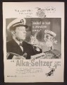 Magazine Ad for Alka-Seltzer, Speedy, With Ship Captain, A Swallow Away, 1959