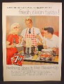 Magazine Ad for 7UP Seven-Up, Cooking A Spaghetti Dinner, 1959