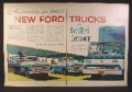 Magazine Ad for 1960 Ford Commercial Trucks, F-600 Stake, Tilt Cab, 1959, Double Page Ad