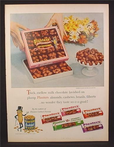 Magazine Ad for Planters Nut Assortment Box, Chocolate ...