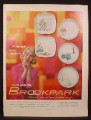 Magazine Ad for Brookpark Dinnerware, 5 Patterns, If Dishes Were Wishes, 1959