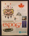 Magazine Ad for Expo67, Expo 67, American Express, Passport, 1966